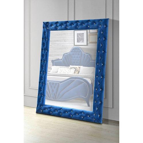All Dante Accent - 24238 - Glam - Blue Velvet Floor Mirror