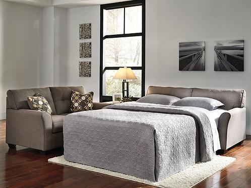 Tibbee Angel Slate Fabric Contemporary Full Sofa Sleeper