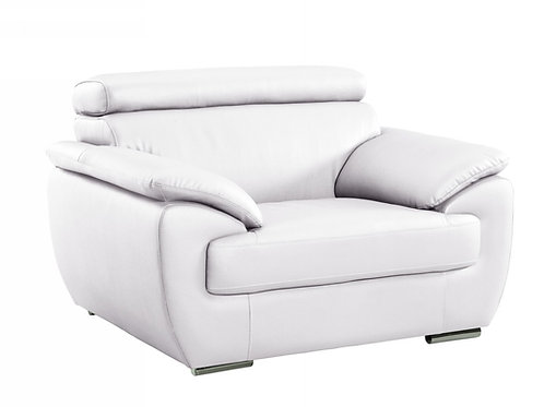 4571 Geo White Leather Chair