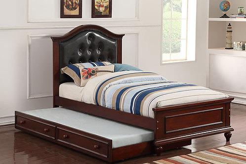Dark Brown Twin Size Bed Port 9379