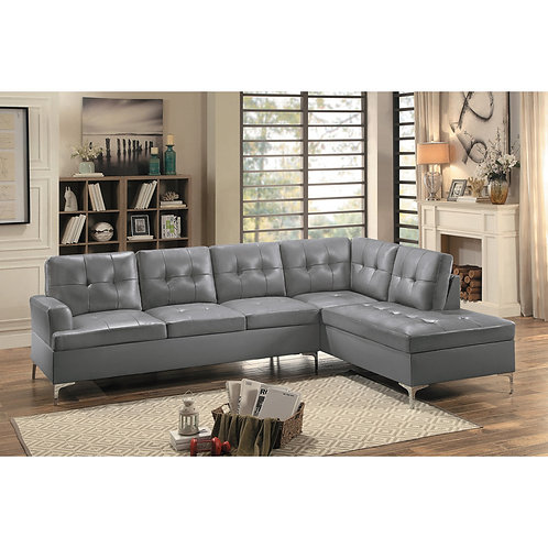 Barrington Henry 2-Piece Sectional with Right Chaise Gray