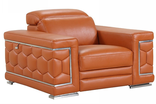 692 Geo Camel Italian Leather Chair