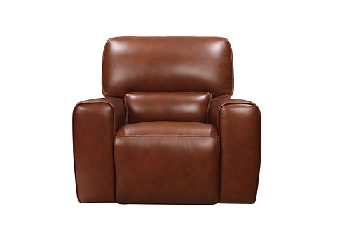 BROADWAY Italia Brown Genuine Leather Power Reclining Chair