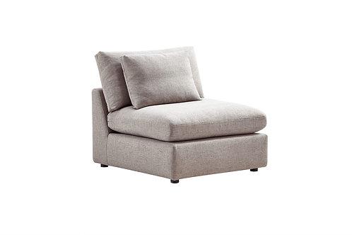 Dream Arcadia Cream Fabric Armless Chair