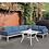 Thumbnail: SHARON Imprad Contemporary White, Blue Patio Sectional