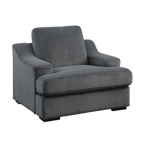 Henry Orofino  Chair Dark Grey Microfiber