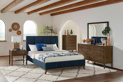 Cherity Cali Upholstered Blue Bed