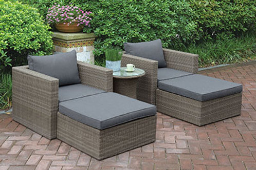 402 Port 5pc Patio Set ( 2 Chairs, 2 Ottoman, Side Table)