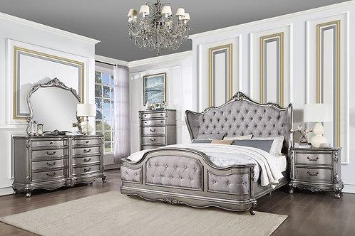 Ausonia All Velvet & Antique Platinum Bed