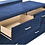 Thumbnail: Cali Melody Contemporary Pacific Blue Matte Velvet Dresser