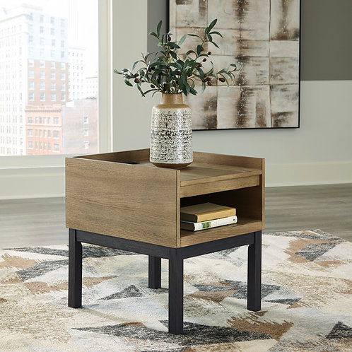 Fridley Angel 2 Tone Contemporary Rectangular End Table