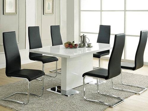Angels Cali White Pedestal Dining Table