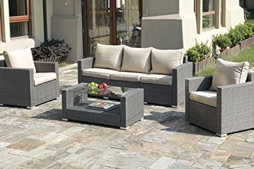50246 Port 4pc Pation Set (Sofa, 2 Chairs, Coffee Table)
