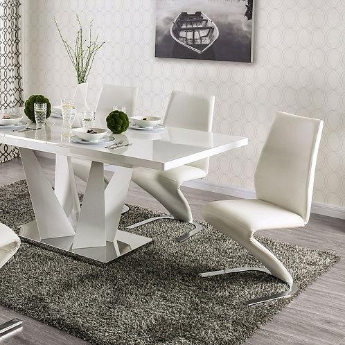 Midvale Imprad Leatherette White Chair