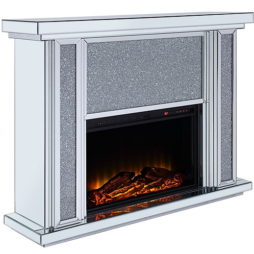 Nowles All Mirrored Electric Fireplace