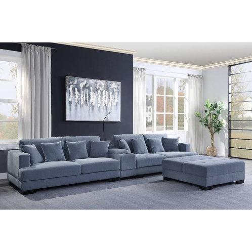 All Qiana Dusty Blue Oversized Sofa