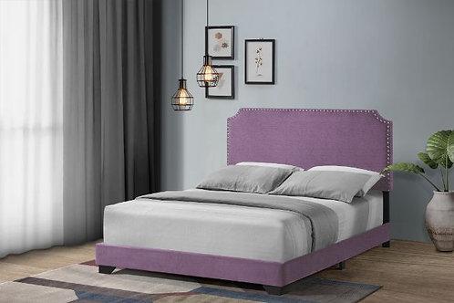 All HAEMON Light Purple Fabric-Nailheads Bed-26750Q