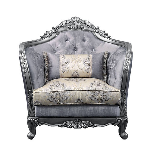All Ariadne Traditional Fabric and Platinum Chair