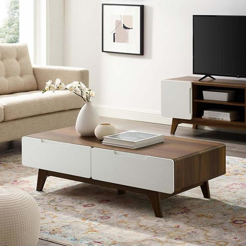Origin Mod Coffee Table in Walnut White
