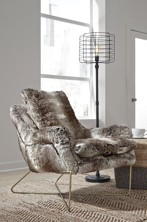 Angel Wildau Faux Fur Upholstery Accent Chair