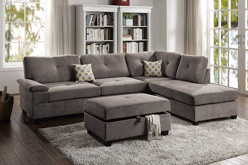 Charcoal Reversible Sectional Port 6425