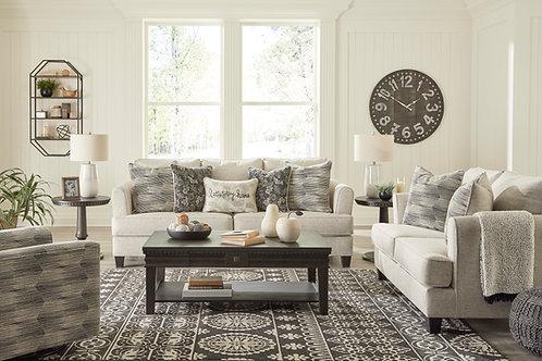 Angel Callisburg Contemporary Beige Linen Sofa