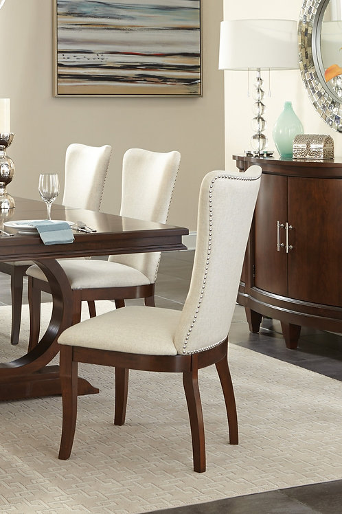 Oratorio Henry Side Chairs Neutral Toned Fabric