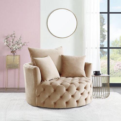 All Zunyas Beige Tufted Accent Chair