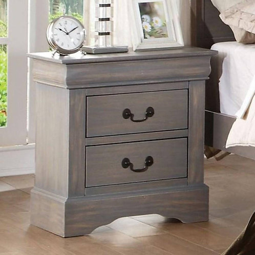 Louis Philippe All Nightstand Antique Gray