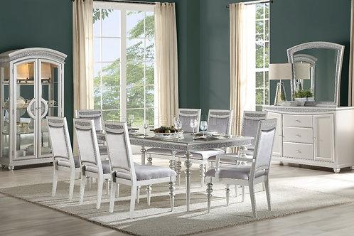 Maverick ALL Platinum Finish Dining Table