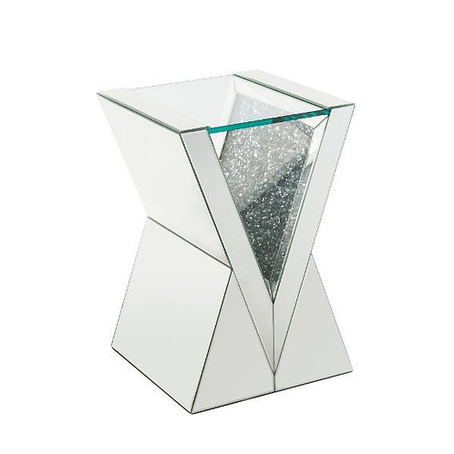 All Noralie 84727 Mirrored w/Faux Diamonds End Table