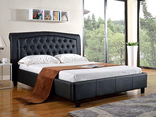 7519 Mg Black PU Platform Bed