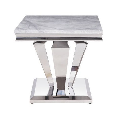 All 87219 Satinka Marble Top End Table