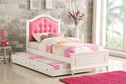 Pink/White Twin Size Bed  Port 9377