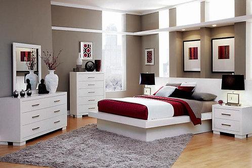 Jessica Cali Modern Platform White Bed