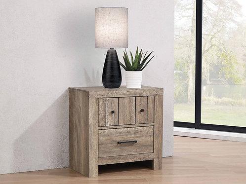 Adelaide 2-Drawer Nightstand Rustic Oak