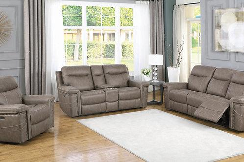 Wixom Cali Cushion Back Power^2 Sofa Taupe