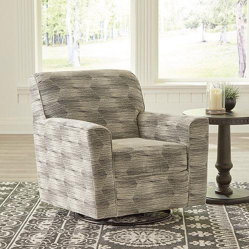 Angel Callisburg Contemporary Granite Linen Swivel Glider Accent Chair