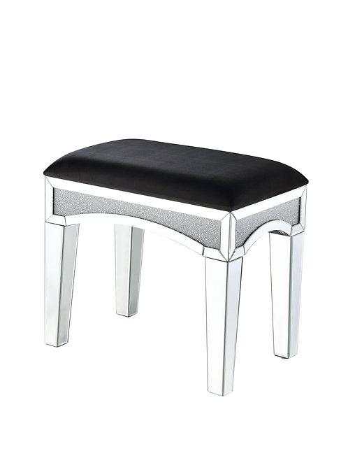 All Noralie 90818 Glam - Mirror, Upholstered Vanity Stool