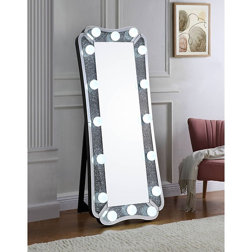All ACME Noralie Wall Decor - 97755 - Glam - LED Light, Glass Mirror
