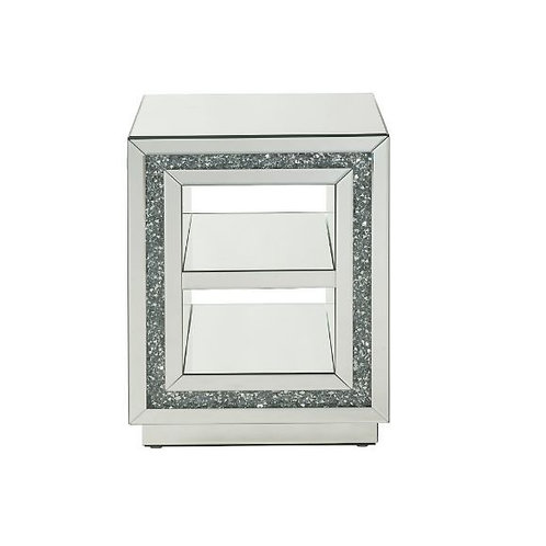 All Mirrored Glam Square End Table - 84737