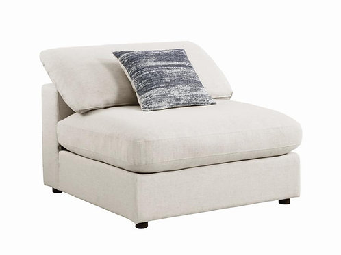 Serene Cali Upholstered Beige Armless Chair