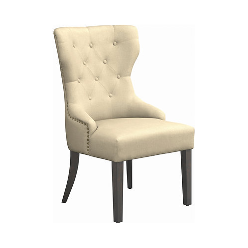 Florence Cali Tufted Back Dining Chair Beige #105