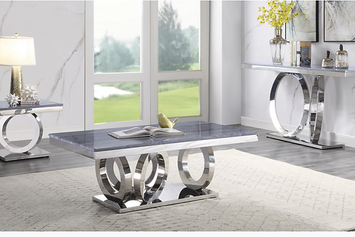 All Modern Marble Zasir Coffee Table w/Stainless Base