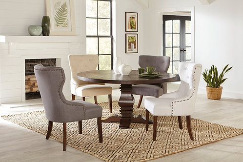 Florence Cali Round Dining Table Rustic Brown