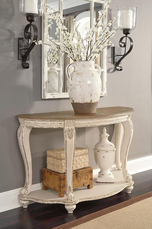 Angel Realyn Rustic White/Brown Sofa Table