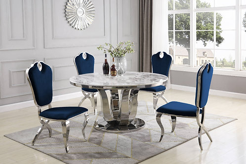 Best D16 Round Marble Top Dining Table