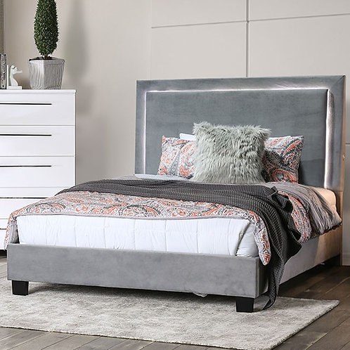 ERGLOW Imprad Gray Bed w/ LED Light