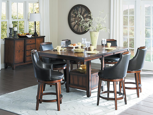 Bayshore Henry Counter Height Table w/Storage Base