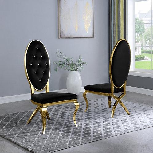 Best Q SC57 Velvet Black/Gold Chair